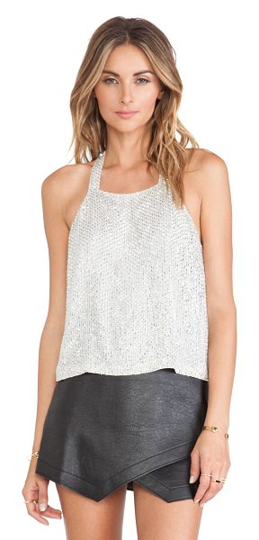 PARKER Justina sequin tank - Silk blend. Beaded and sequined throughout. Hidden side...