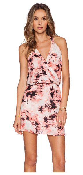 Parker Kita dress in pink - Poly blend. Fully lined. Wrap front. Elastic waist. Back...