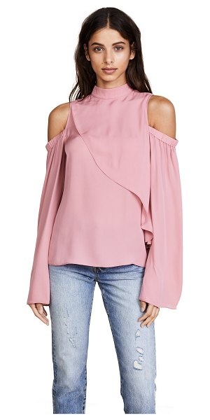 Parker lulu blouse in honeysuckle - A draped crossover panel lends a wrapped effect to this...