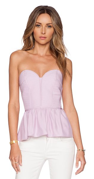 Parker Penelope top in pink - Poly blend. Dry clean only. Decorative top stitching....