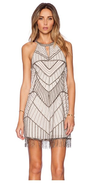 Parker Sansa embellished dress in blush - Poly blend. Dry clean only. Fully lined. Beaded and...