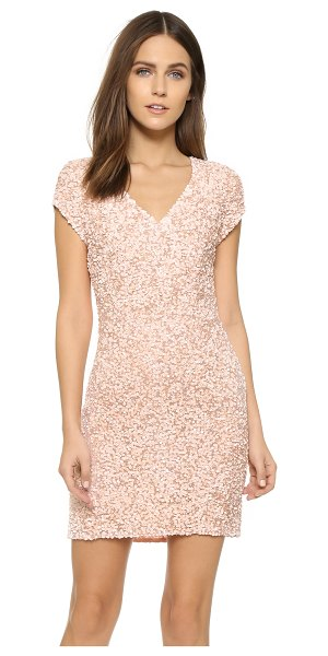 PARKER Serena sequin dress in blush - An elegant, sequined Parker mini dress with a...