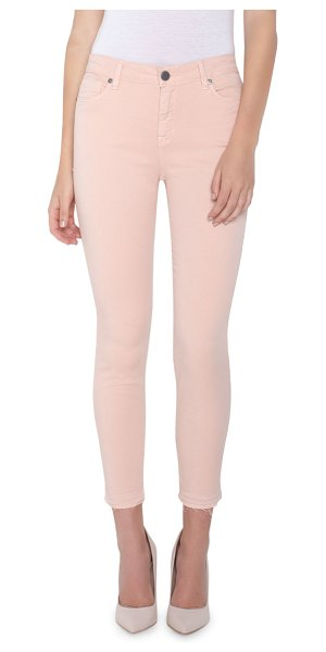 PARKER SMITH Vava Mid-Rise Crop Skinny Jeans in peony