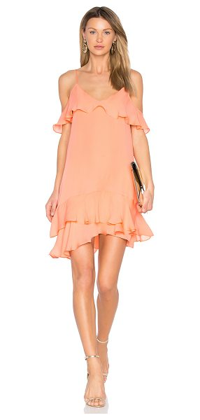 Parker Thatcher Dress in coral - Silk blend. Dry clean only. Fully lined. Adjustable...