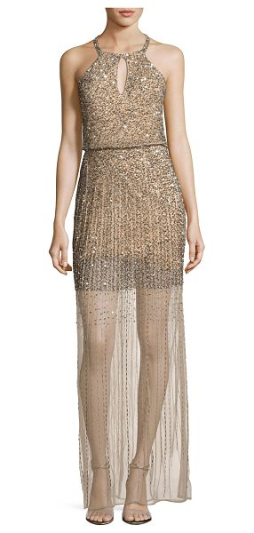 PARKER Sleeveless Embellished Blouson Gown in nude - ONLYATNM Only Here. Only Ours. Exclusively for You....