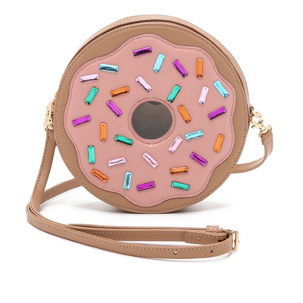 Patricia Chang Donut cross body bag in pink multi