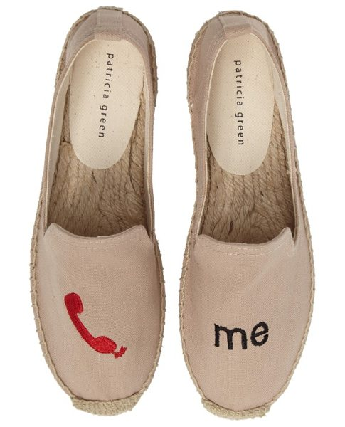 Patricia Green call me espadrille flat in tan fabric - They've got your number-let them know they can call you...