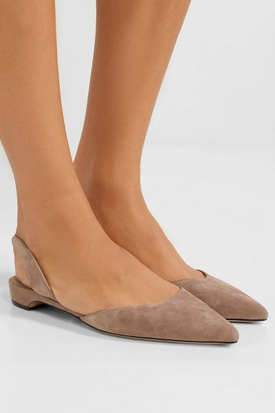 Paul Andrew rhea suede point-toe flats in taupe
