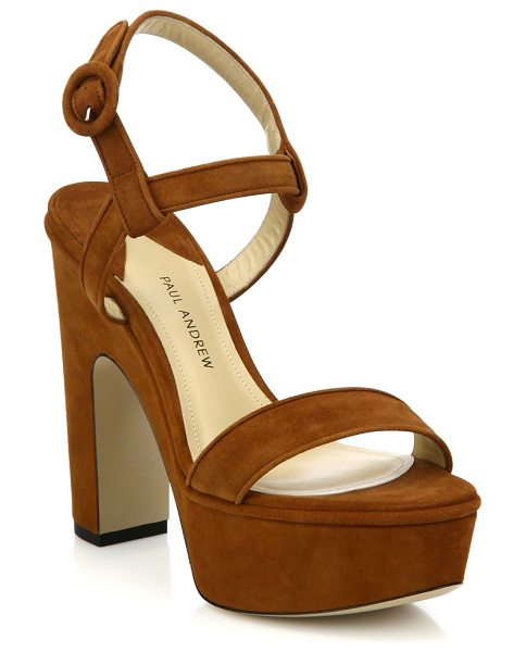 Paul Andrew Stanton suede platform sandals in tan