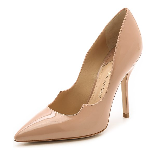 Paul Andrew zenadia pumps in nude - Sleek nude Paul Andrew pumps are updated with the...