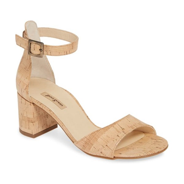 Paul Green agusta ankle strap sandal in brown