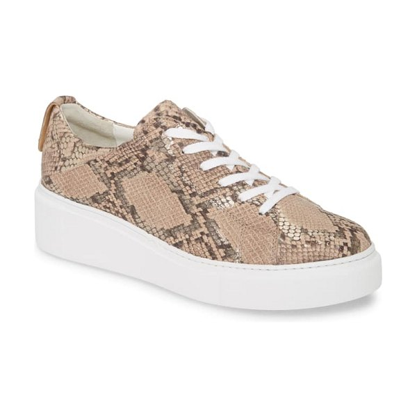 Paul Green debbie wedge sneaker in metallic