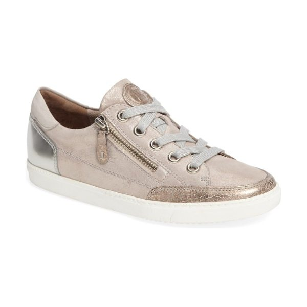 Paul Green luca sneaker in metallic leather - A side zip closure makes it easy to pop in and out of a...