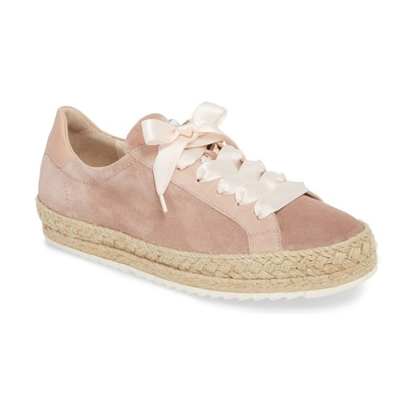 Paul Green randy sneaker in old rose leather - A soft sneaker set on a snowy razored sole gets a...