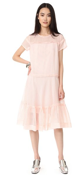Paul & Joe Sister anatoile dress in rose pale - NOTE: Runs true to size. Filmy stripes accent this airy...