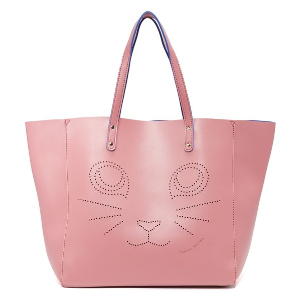 Paul & Joe Sister Fustave tote in vieux rose - A perforated cat graphic adds charm to this roomy Paul &...