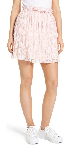 PAUL & JOE SISTER karlie burnout skirt - Romance is in the air with this pretty pink skirt with...