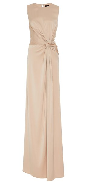 Paule Ka Crepe Backed Satin Knot Gown in neutral