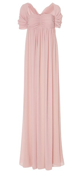 Paule Ka Crepon Empire Gown in pink - This *Paule Ka* Crepon Empire Gown features an empire...