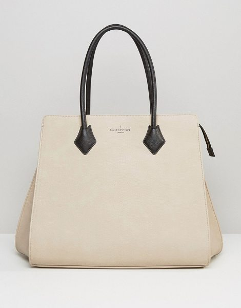 Pauls Boutique Coco Structured Tote in Nude in beige - Cart by Paul's Boutique, Faux-leather outer,...