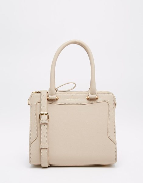 Pauls Boutique Pauls boutique hunter mini tote bag in stone - Cart by Paul's Boutique Leather-look fabric Zip opening...