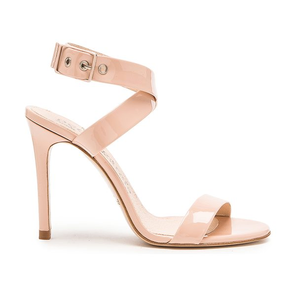 Pedro Garcia Cecily heel in beige - Patent leather upper with leather sole. Heel measures...