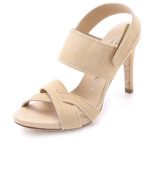 Pedro Garcia Shirly suede sandals in ecru