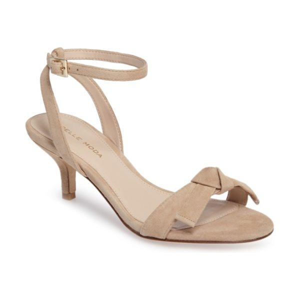 Pelle Moda alexia 2 sandal in sand suede - A knotted bow crowns the slim toe strap of a lightly...
