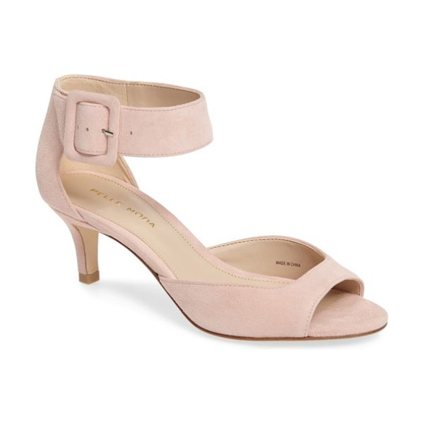 Pelle Moda 'berlin' ankle strap sandal in pale pink leather - Crafted of luxe suede, this warm-weather sandal features...