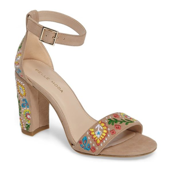 PELLE MODA 'bonnie' ankle strap sandal in sand leather - A minimalist ankle-strap sandal crafted in lush suede...