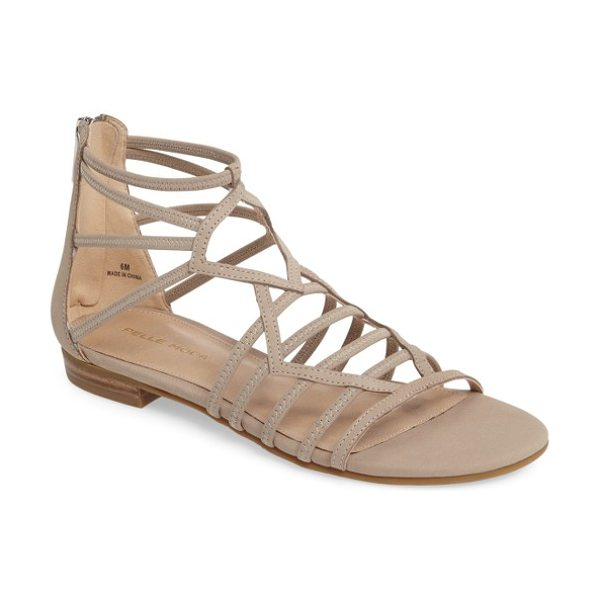 Pelle Moda brazil strappy sandal in barley leather - Stretchy straps enhance the comfort of a breezy-chic...