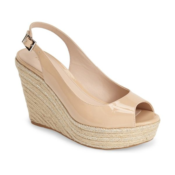 PELLE MODA colton slingback espadrille wedge - Shimmery metallic threads light up the braided...