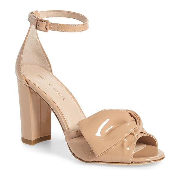 Pelle Moda faith sandal in pink - An oversized bow adds a feminine flourish to this...