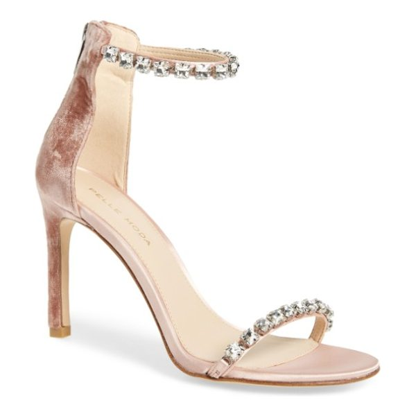 Pelle Moda frisk embellished sandal in blush - Faceted crystals lend showstopping glamour to a...