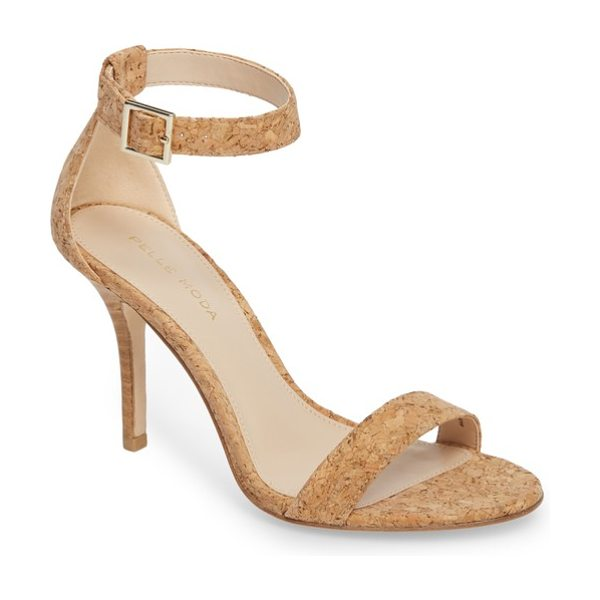 Pelle Moda kacey sandal in natural cork - A sultry silhouette lends classic style to a chic sandal...