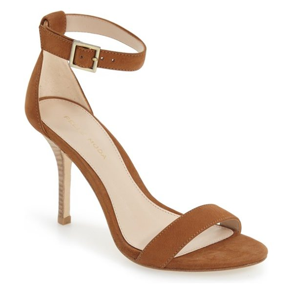 Pelle Moda 'kacey' sandal in luggage leather - This minimalist sandal features slender toe and ankle...