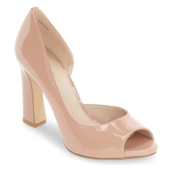 PELLE MODA 'nolan' half d'orsay peep toe pump - A flirty peep toe and a half-d'Orsay profile add allure...