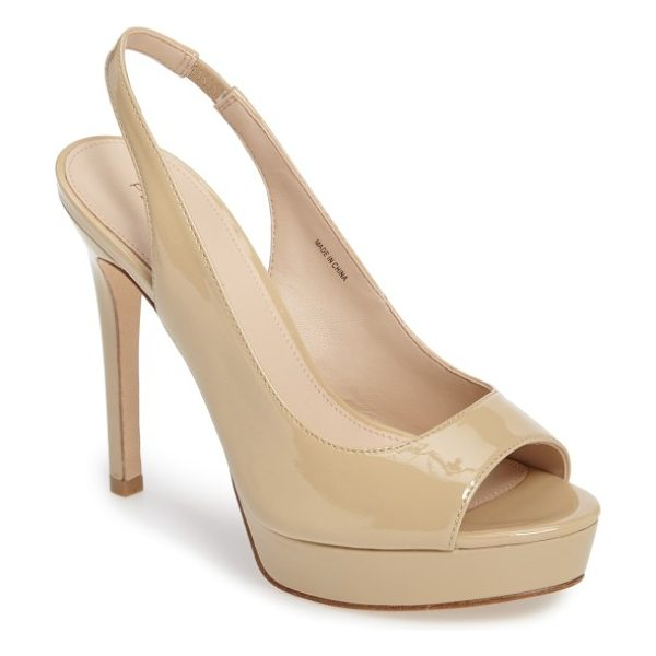 Pelle Moda oana slingback platform sandal in nude leather - Elevate your style quotient a couple inches with the...