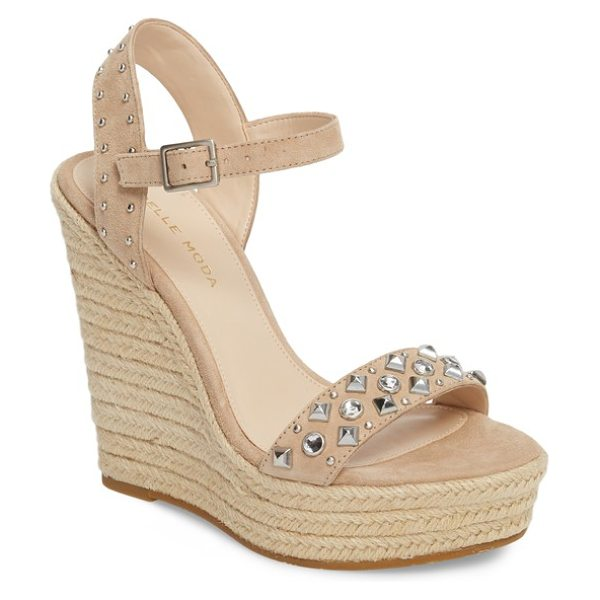 PELLE MODA oates espadrille wedge sandal - Metallic studs add a touch of utilitarian edge to a...
