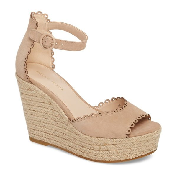 Pelle Moda raine platform espadrille sandal in beige - A lofty espadrille wedge heel and platform elevate a...
