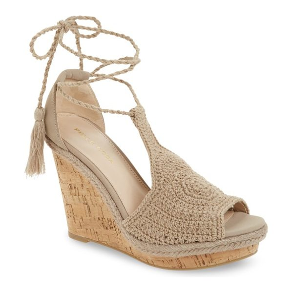Pelle Moda wade wedge in natural leather - A sky-high cork wedge lends serious leg-lengthening...