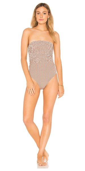 Peony Swimwear One Piece in tan - 95% polyamide 5% elastane. Hand wash cold. Detachable...