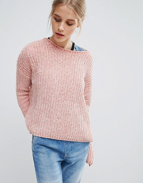 """Pepe Jeans Chana Knit Sweater in pink - """"""""Sweater by Pepe Jeans, Chunky chenille knit, Super..."""
