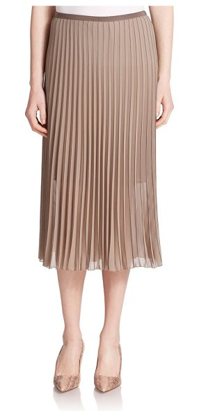 Peserico Pleated skirt in taupe - This airy, semi-sheer pleated skirt is versatile enough...