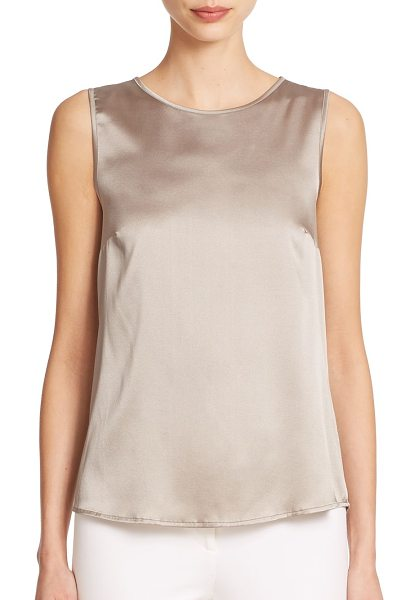 Peserico Satin tank in bronze - Lustrous soft satin ensures the timeless styling appeal...