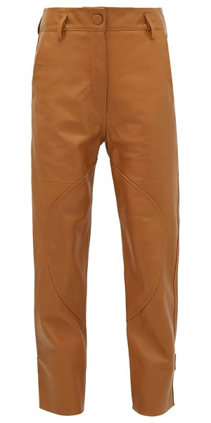 Petar Petrov hunter high-rise leather trousers in brown