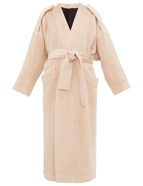 Petar Petrov moscow belted alpaca blend coat in light pink