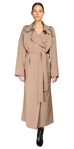 Petar Petrov Oversize cotton & silk trench coat in brown
