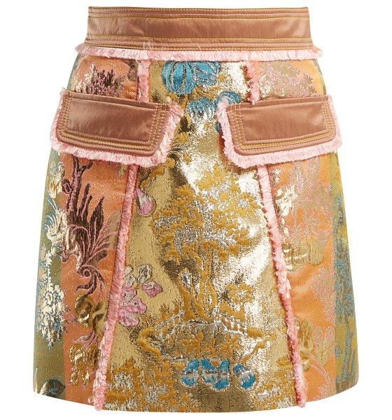Peter Pilotto A Line Floral Brocade Mini Skirt in gold multi - Peter Pilotto - Peter Pilotto's high-octane aesthetic is...