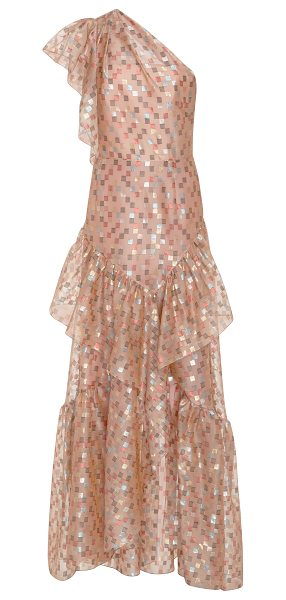 Peter Pilotto One-Shoulder Embellished Ruffled Gown in pink - Peter Pilotto One-Shoulder Embellished Ruffled Gown